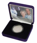 2007 Silver Proof Piedfort £5 Diamond Wedding